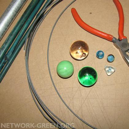 Garden stake finials materials